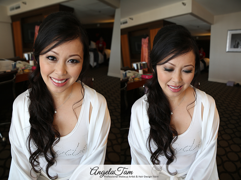 LOS ANGELES PASADENA – KY – BEAUTIFUL ASIAN BRIDE MAKEUP