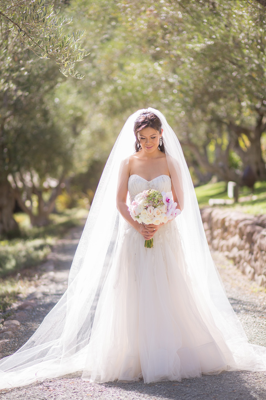 Los Angeles Wedding Beautiful Asian Bridal Makeup And Half Down