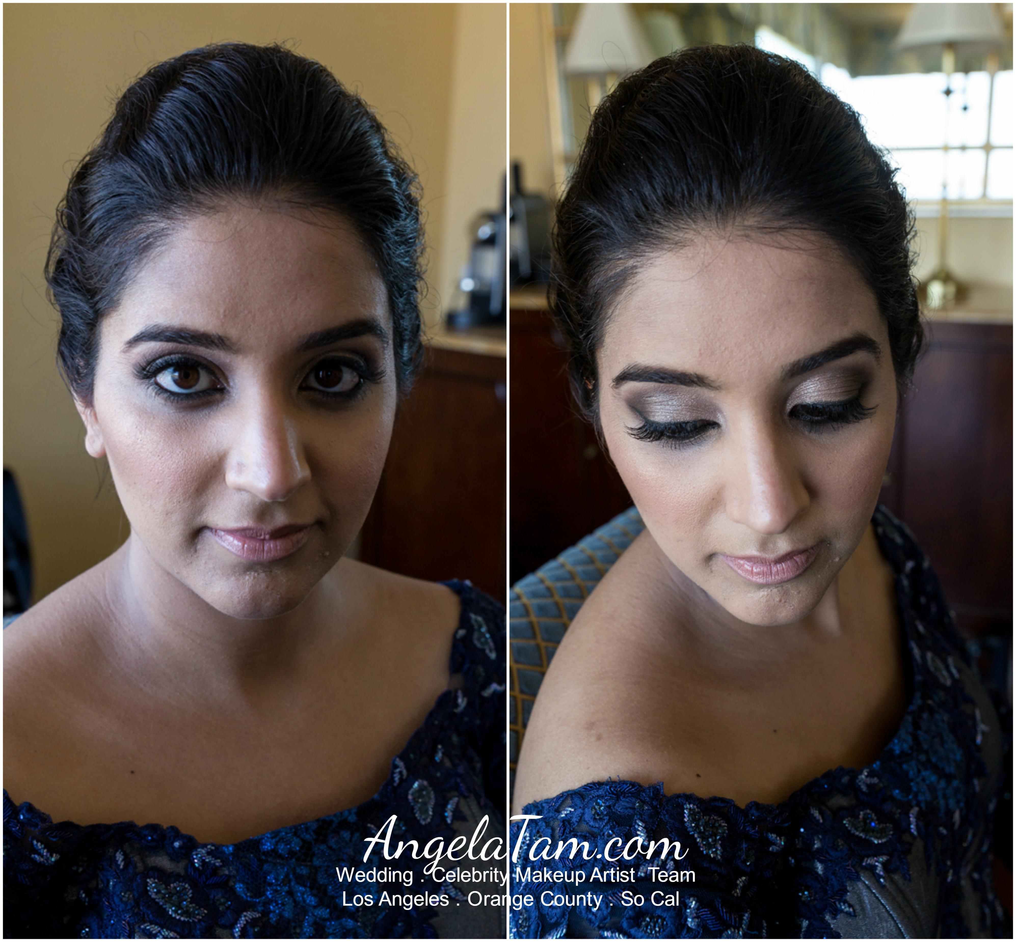 Indian South Asian Bride Sandeep Makeup Artist Angela Tam Celebrity Wedding Team Ventura Los Angeles Orange County
