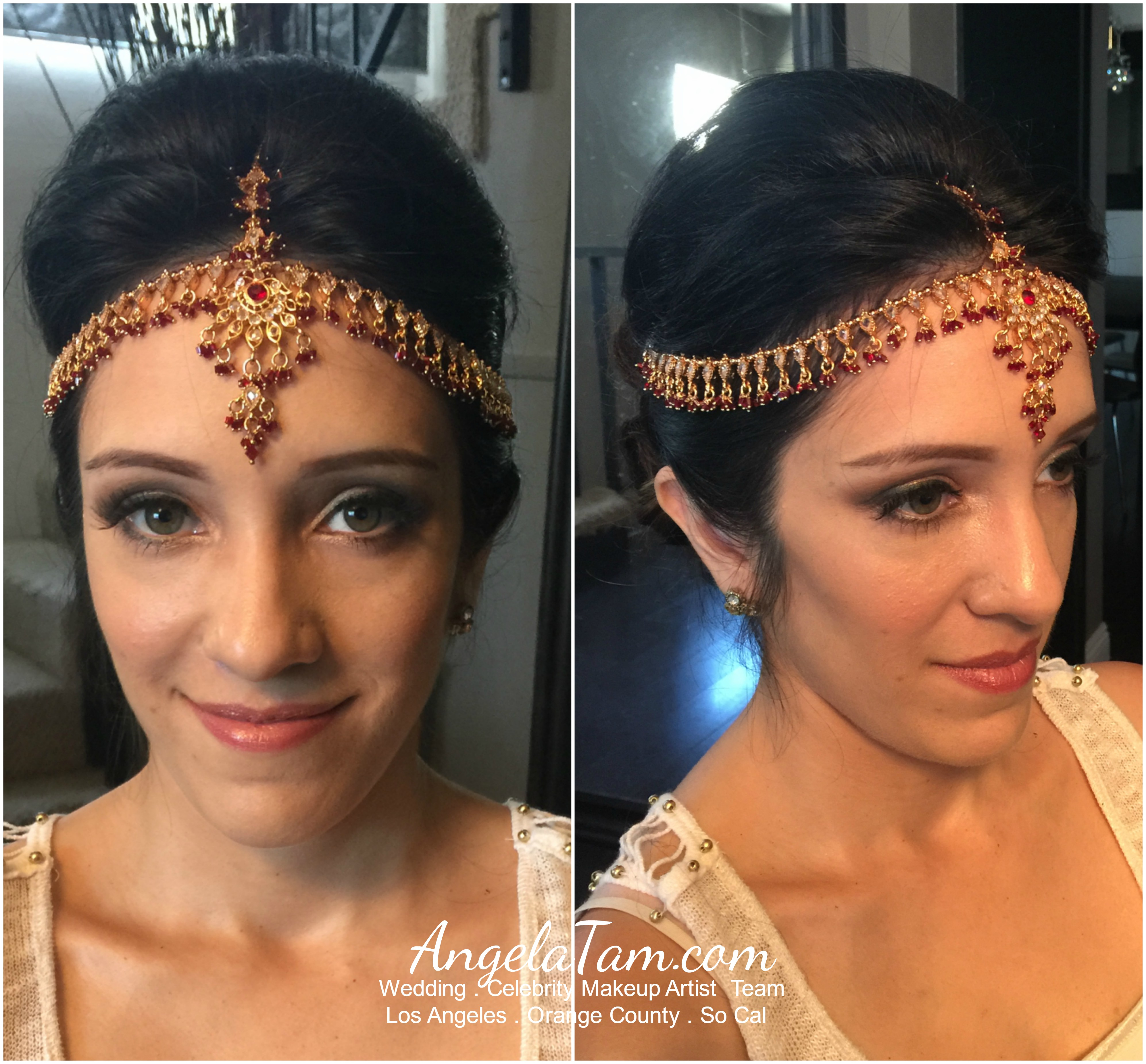 los angeles hindu indian wedding makeup artist and hair stylist