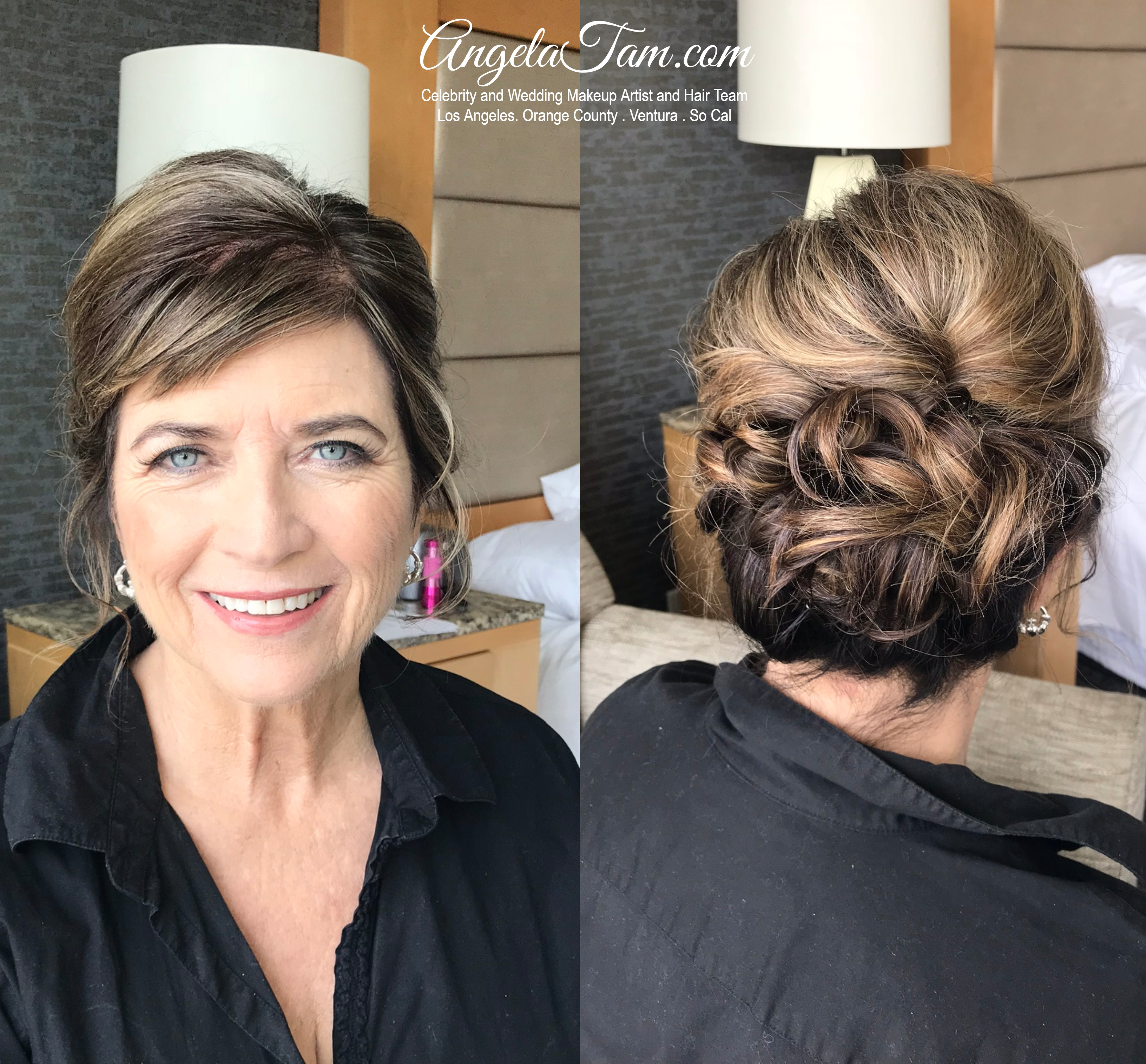 Caucasian Mob Make Up Short Hair Style By Angela Tam Los